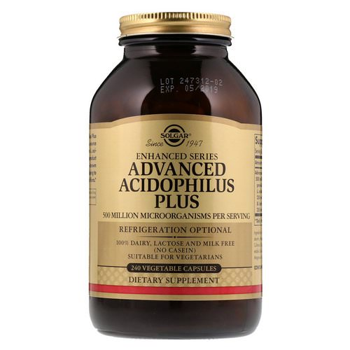 Solgar, Advanced Acidophilus Plus, 240 Vegetable Capsules Review