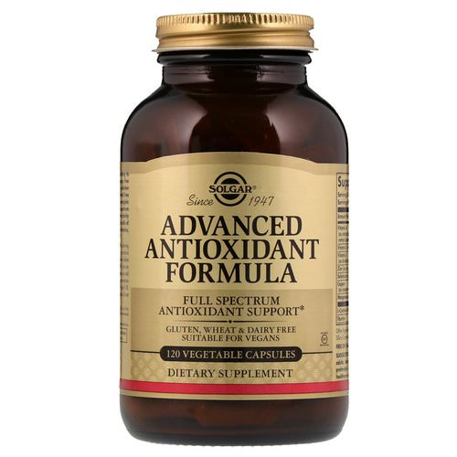 Solgar, Advanced Antioxidant Formula, 120 Vegetable Capsules Review