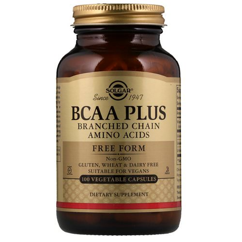 Solgar, BCAA Plus, Free Form, 100 Vegetable Capsules Review