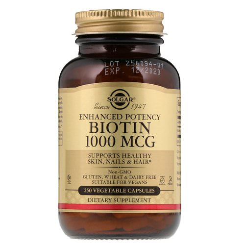 Solgar, Biotin, 1,000 mcg, 250 Vegetable Capsules Review