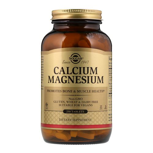 Solgar, Calcium Magnesium, 250 Tablets Review
