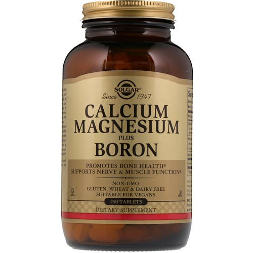 Solgar, Calcium Magnesium Plus Boron, 250 Tablets Review