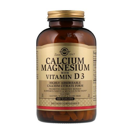 Solgar, Calcium Magnesium with Vitamin D3, 300 Tablets Review