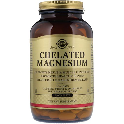 Solgar, Chelated Magnesium, 250 Tablets Review