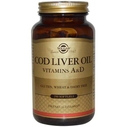 Solgar, Cod Liver Oil, Vitamins A & D, 250 Softgels Review