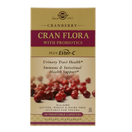 Solgar, Cran Flora with Probiotics, 60 Vegetable Capsules Review