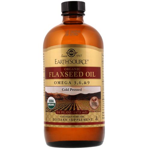 Solgar, Earth Source, Organic Flaxseed Oil, 16 fl oz (473 ml) Review