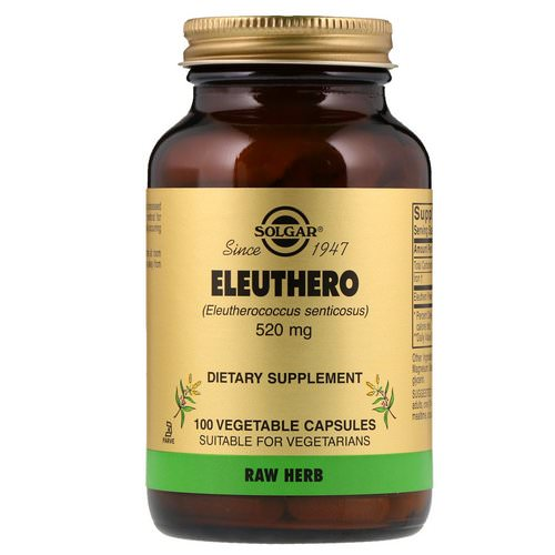 Solgar, Eleuthero, 520 mg, 100 Vegetable Capsules Review