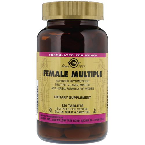 Solgar, Female Multiple, 120 Tablets Review