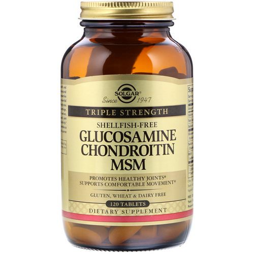 Solgar, Glucosamine Chondroitin MSM, Triple Strength, 120 Tablets Review