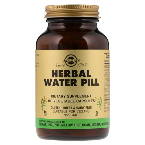 Solgar, Herbal Water Pill, 100 Vegetable Capsules Review