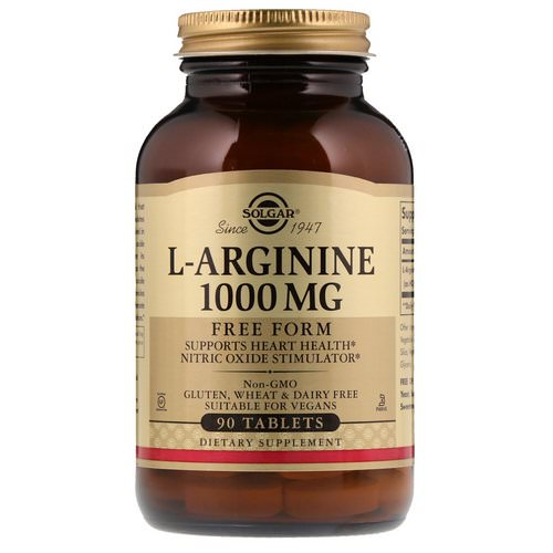 Solgar, L-Arginine, 1000 mg, 90 Tablets Review
