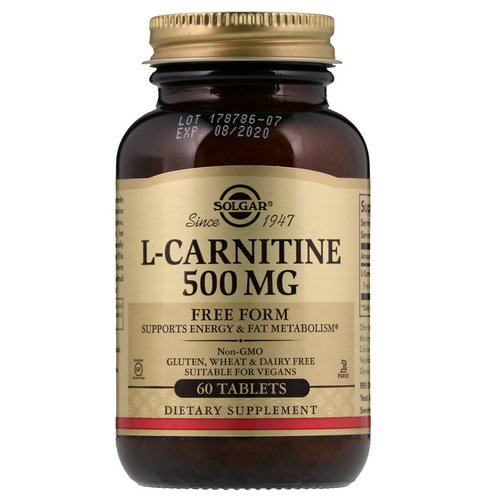 Solgar, L-Carnitine, 500 mg, 60 Tablets Review