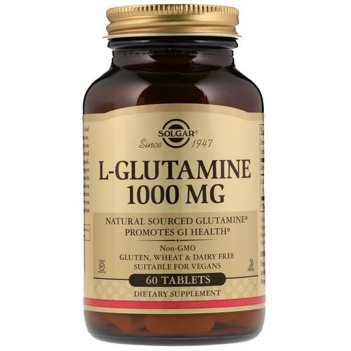 Solgar, L-Glutamine, 1000 mg, 60 Tablets Review