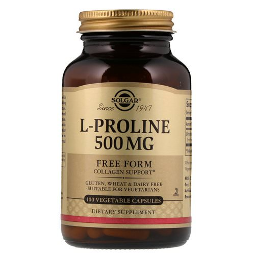 Solgar, L-Proline, 500 mg, 100 Vegetable Capsules Review