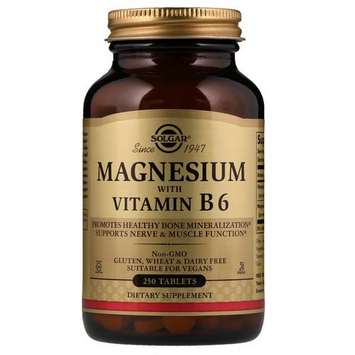 Solgar, Magnesium, with Vitamin B6, 250 Tablets Review