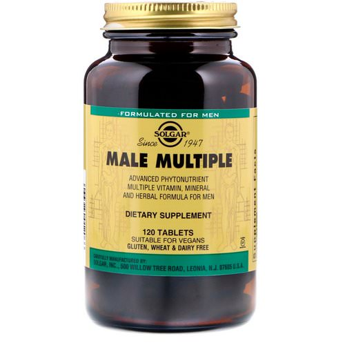 Solgar, Male Multiple, 120 Tablets Review