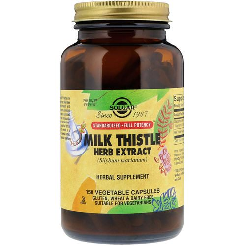 Solgar, Milk Thistle Herb Extract, 150 Vegetable Capsules Review