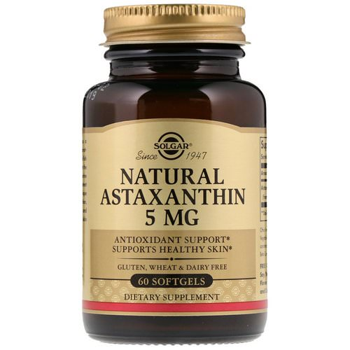 Solgar, Natural Astaxanthin, 5 mg, 60 Softgels Review