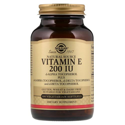 Solgar, Naturally Sourced Vitamin E, 200 IU, 100 Vegetarian Softgels Review