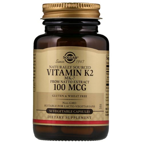 Solgar, Naturally Sourced Vitamin K2, 100 mcg, 50 Vegetable Capsules Review