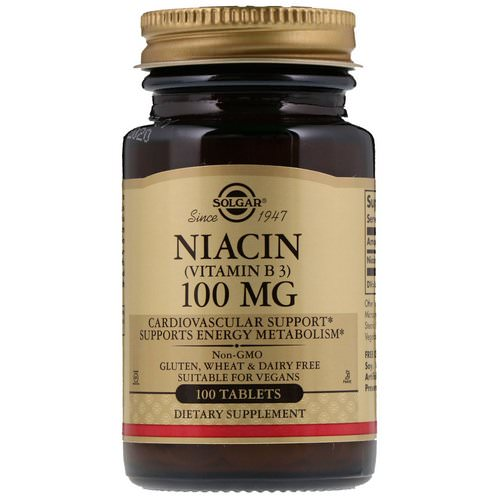 Solgar, Niacin (Vitamin B3), 100 mg, 100 Tablets Review