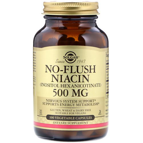 Solgar, No-Flush Niacin, 500 mg, 100 Vegetable Capsules Review