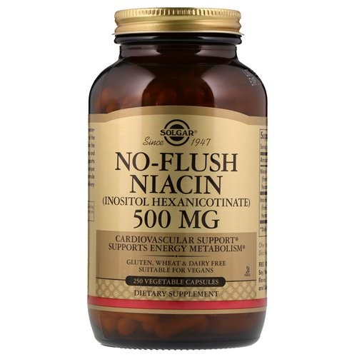 Solgar, No-Flush Niacin, 500 mg, 250 Vegetable Capsules Review