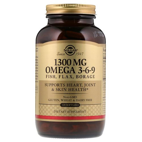 Solgar, Omega 3-6-9, 1,300 mg, 120 Softgels Review