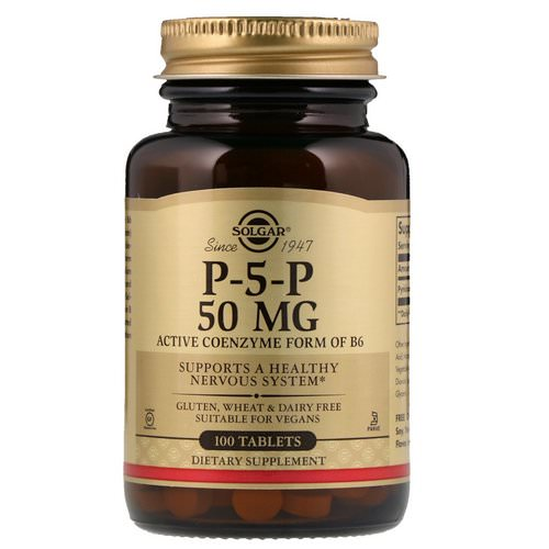 Solgar, P-5-P, 50 mg, 100 Tablets Review
