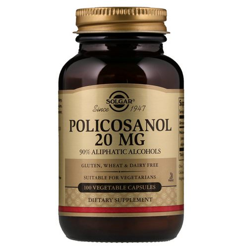 Solgar, Policosanol, 20 mg, 100 Vegetable Capsules Review