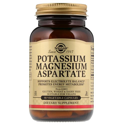 Solgar, Potassium Magnesium Aspartate, 90 Vegetable Capsules Review