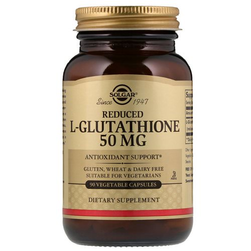 Solgar, Reduced L-Glutathione, 50 mg, 90 Vegetable Capsules Review