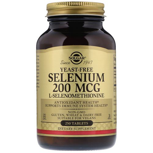 Solgar, Selenium, Yeast-Free, 200 mcg, 250 Tablets Review