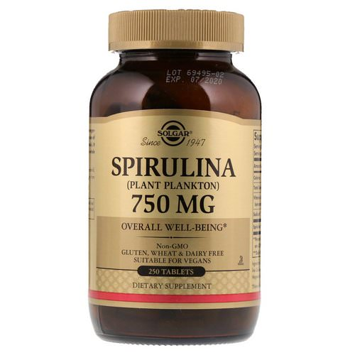 Solgar, Spirulina, 750 mg, 250 Tablets Review
