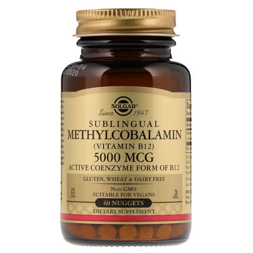 Solgar, Sublingual Methylcobalamin (Vitamin B12), 5,000 mcg, 60 Nuggets Review