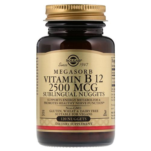 Solgar, Sublingual Vitamin B12, 2,500 mcg, 120 Nuggets Review