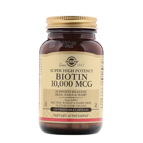 Solgar, Super High Potency, Biotin, 10,000 mcg, 120 Vegetable Capsules Review