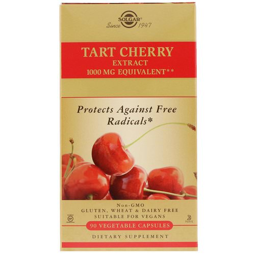 Solgar, Tart Cherry Extract, 90 Vegetable Capsules Review
