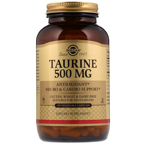 Solgar, Taurine, 500 mg, 250 Vegetable Capsules Review