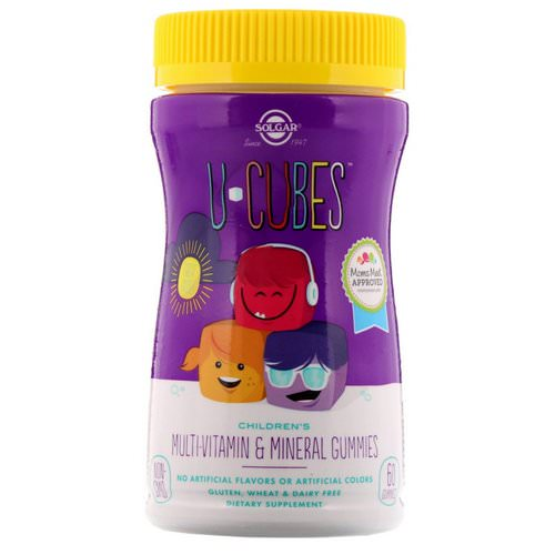 Solgar, U-Cubes, Children's Multi-Vitamin & Mineral Gummies, 60 Gummies Review