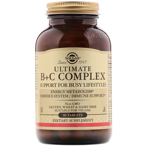 Solgar, Ultimate B+C Complex, 90 Tablets Review