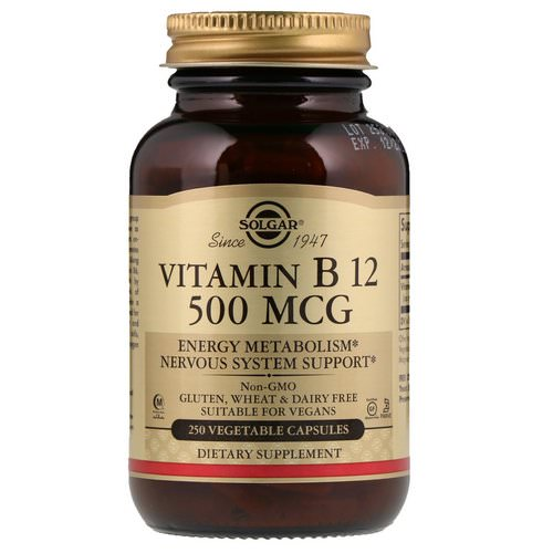 Solgar, Vitamin B12, 500 mcg, 250 Vegetable Capsules Review