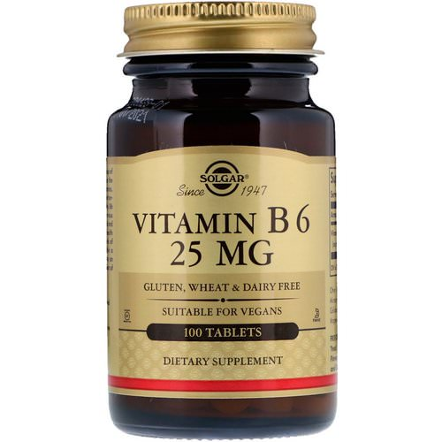 Solgar, Vitamin B6, 25 mg, 100 Tablets Review