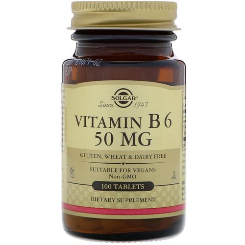 Solgar, Vitamin B6, 50 mg, 100 Tablets Review