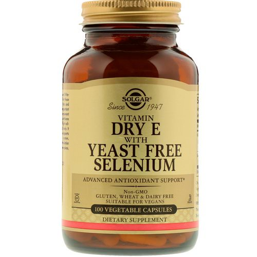 Solgar, Vitamin Dry E with Yeast Free Selenium, 100 Vegetable Capsules Review