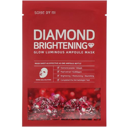 Some By Mi, Glow Luminous Ampoule Mask, Diamond Brightening, 10 Sheets, 25 Each Review