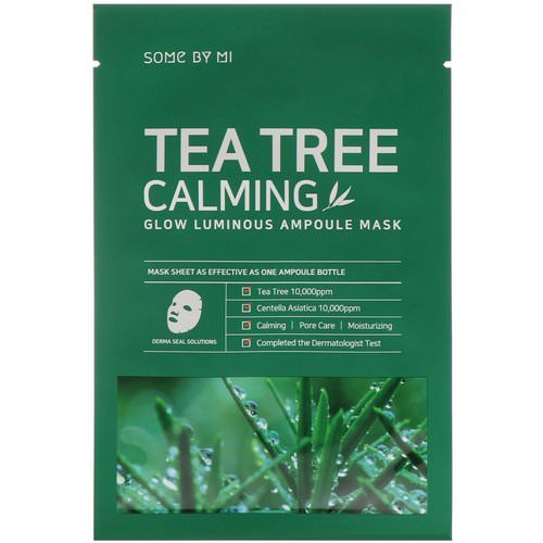 Some By Mi, Glow Luminous Ampoule Mask, Tea Tree Calming, 10 Sheets, 25 g Each Review