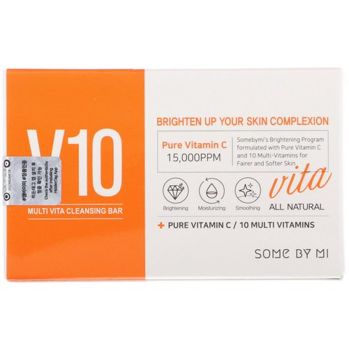 Some By Mi, V10 Multi Vita Cleansing Bar, 95 g Review
