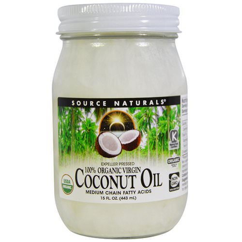Source Naturals, 100% Organic Virgin, Coconut Oil, 15 fl oz. (443 ml) Review